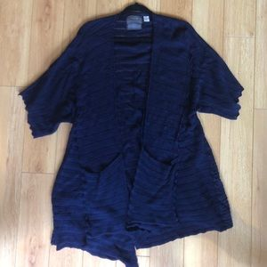 Navy Blue Anthropologie Cardigan with Pockets